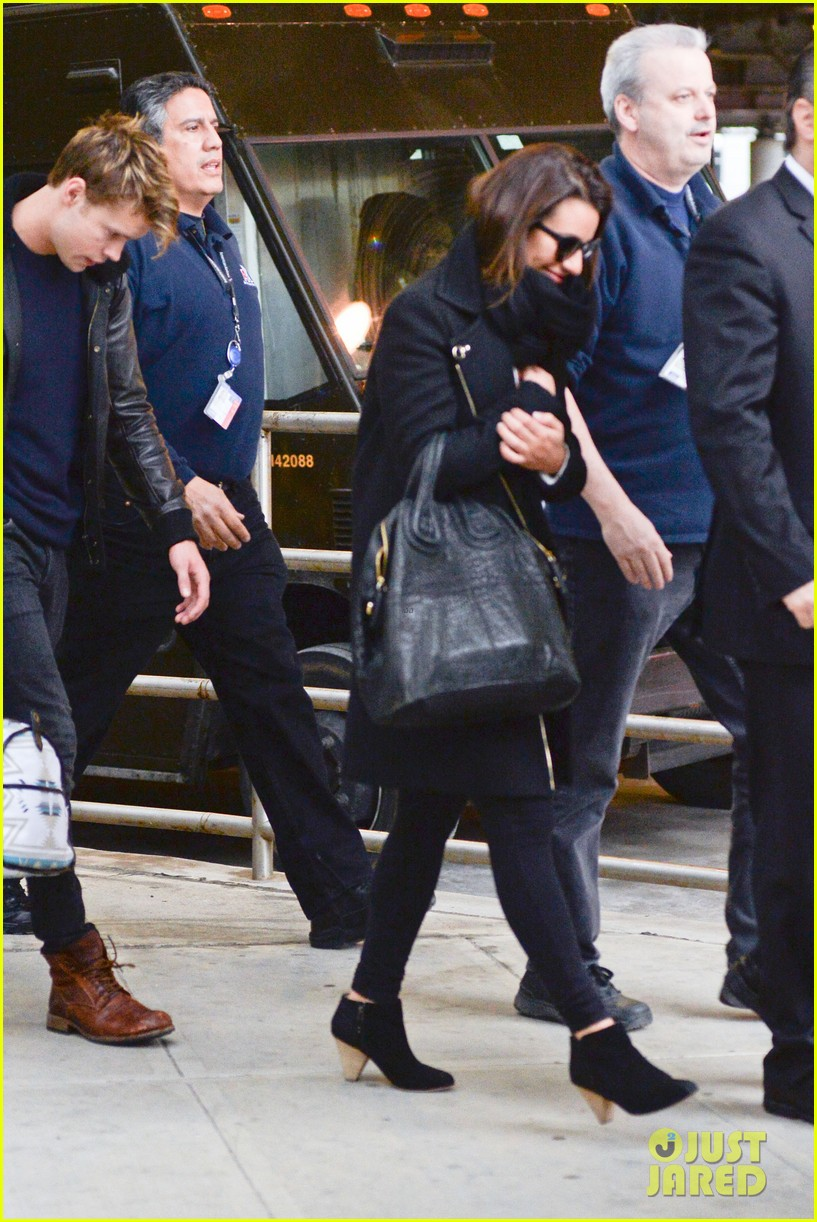 lea michele chord overstreet arrive in new york 21