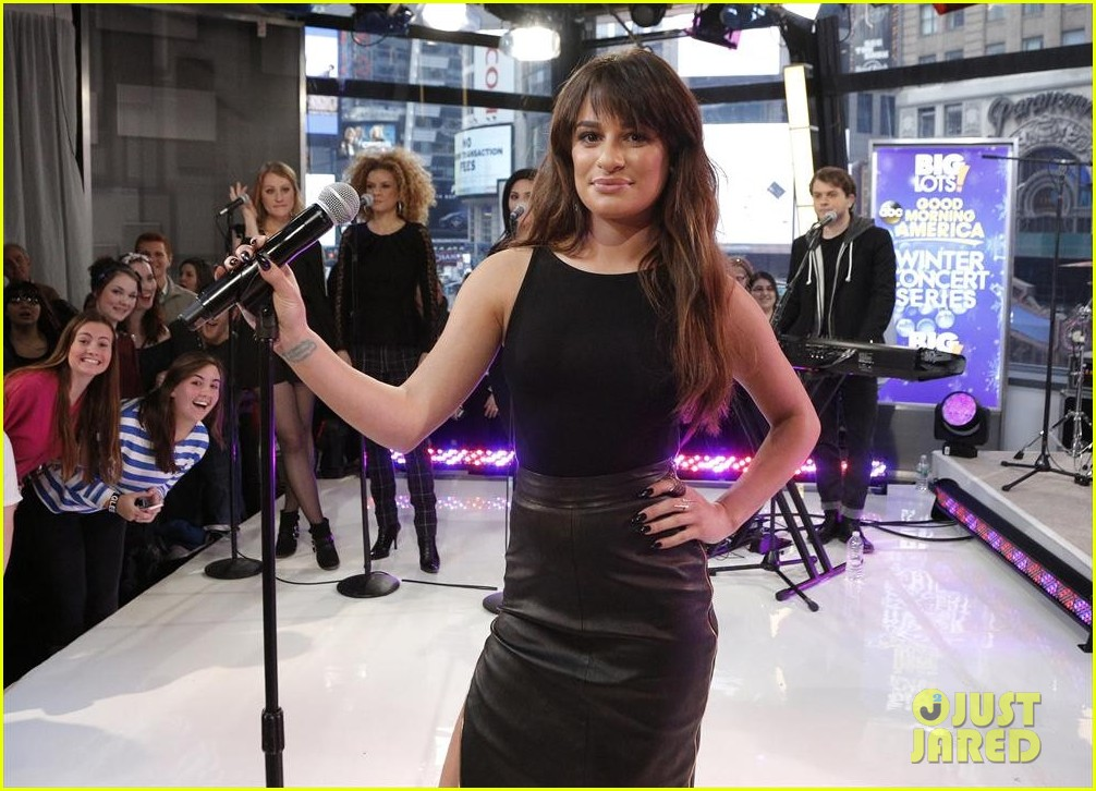 lea michele brings louder to good morning america 05