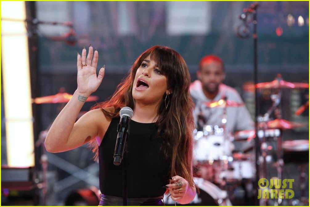 lea michele brings louder to good morning america 07
