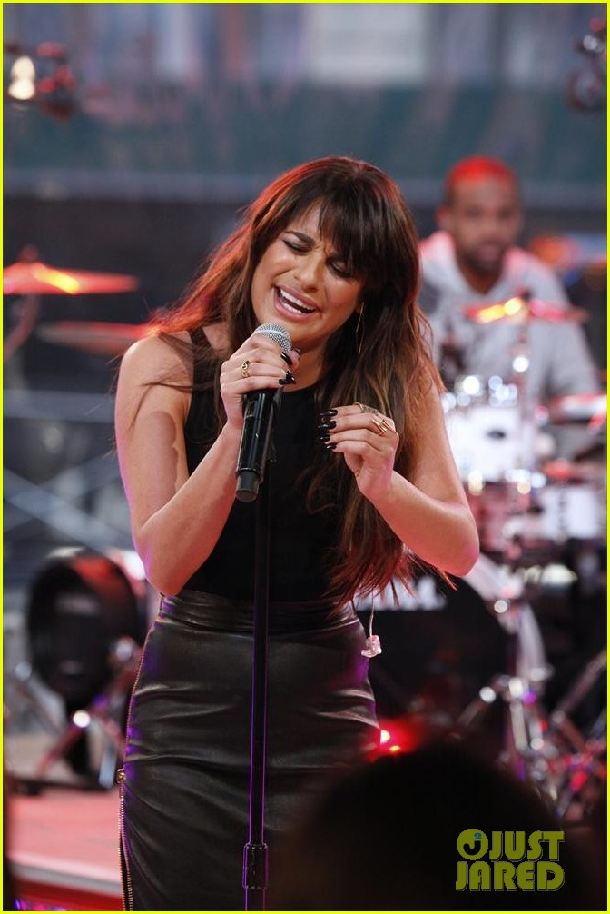 lea michele brings louder to good morning america 083066517