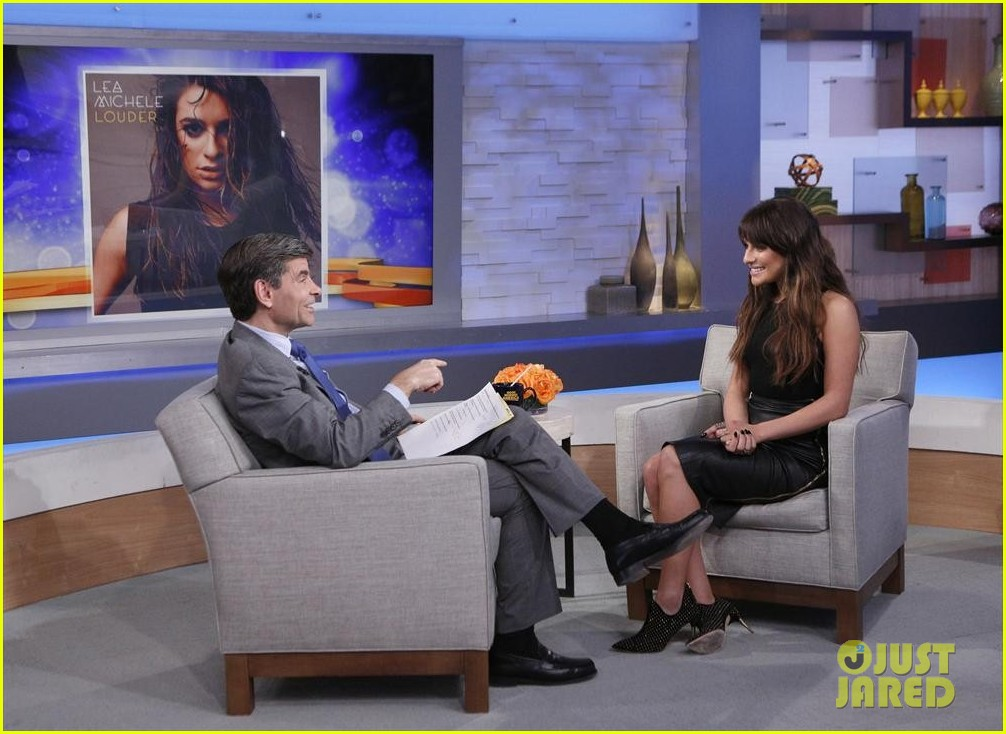 lea michele brings louder to good morning america 103066519
