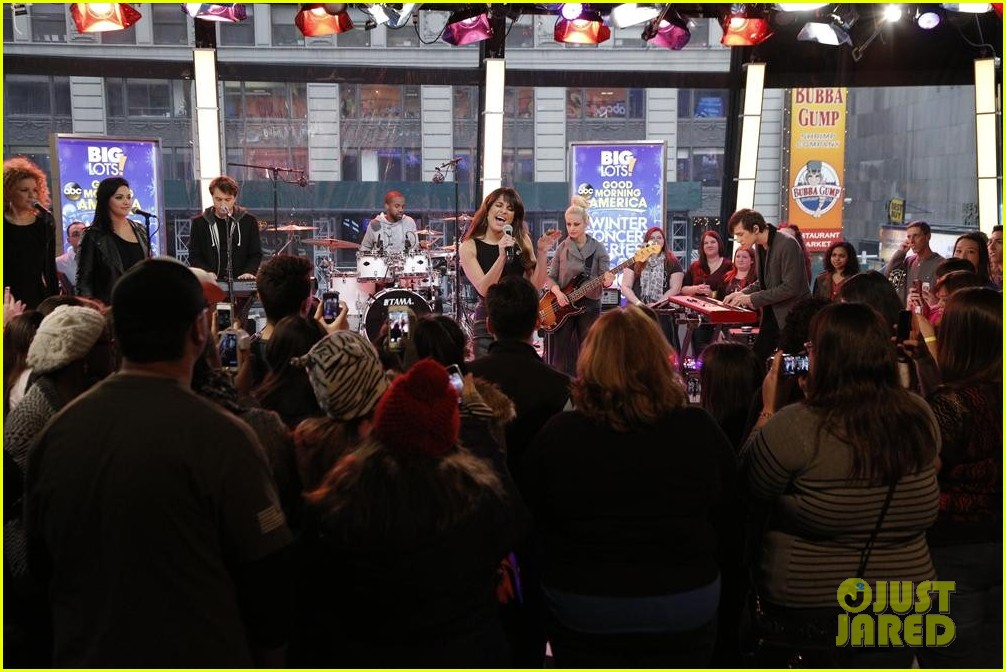 lea michele brings louder to good morning america 12