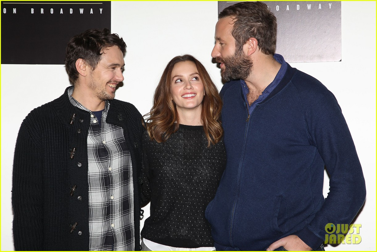 leighton meester james franco of mice men broadway preview 05
