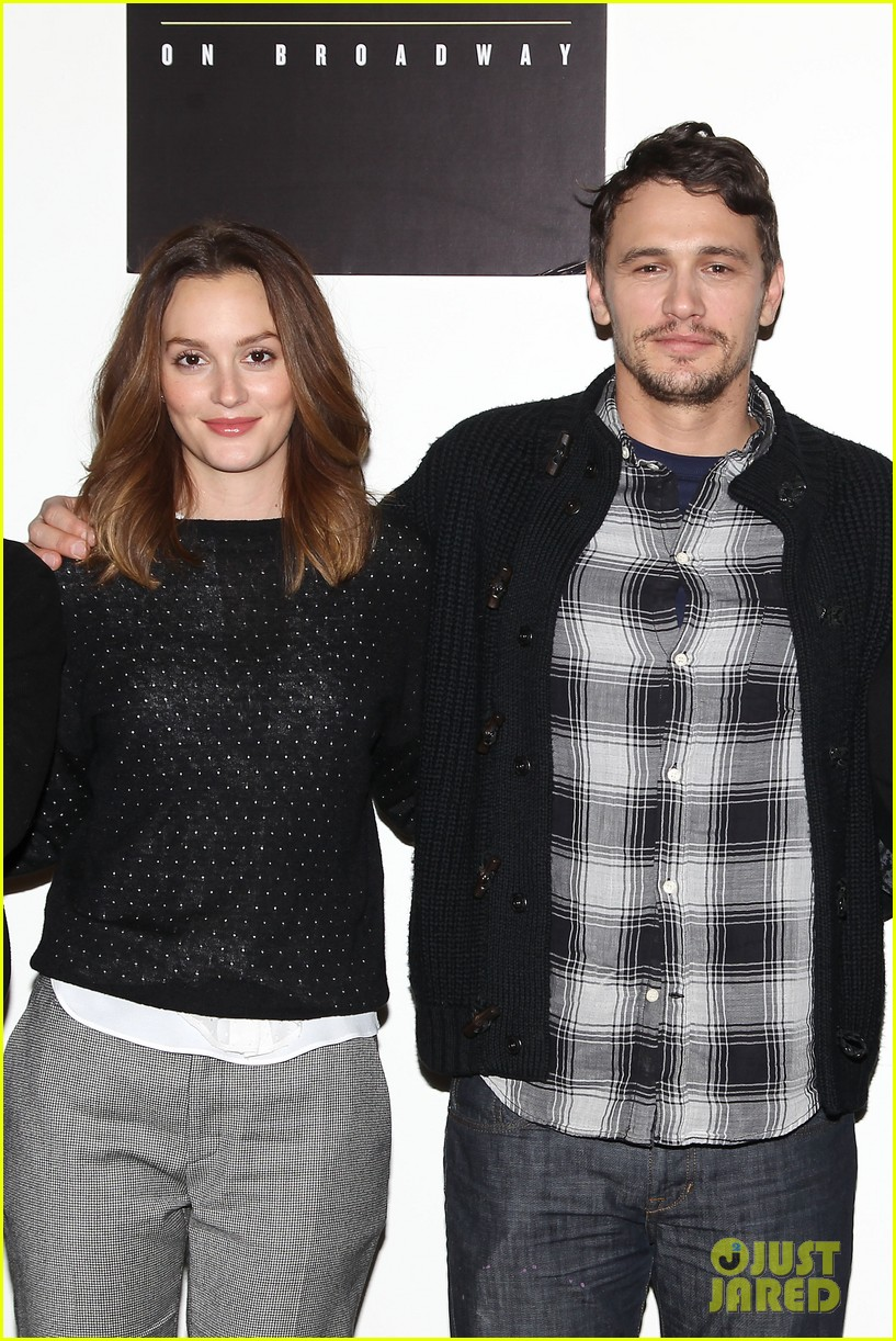 leighton meester james franco of mice men broadway preview 12