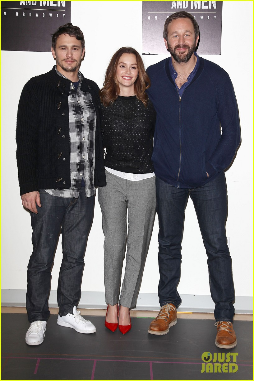 leighton meester james franco of mice men broadway preview 20