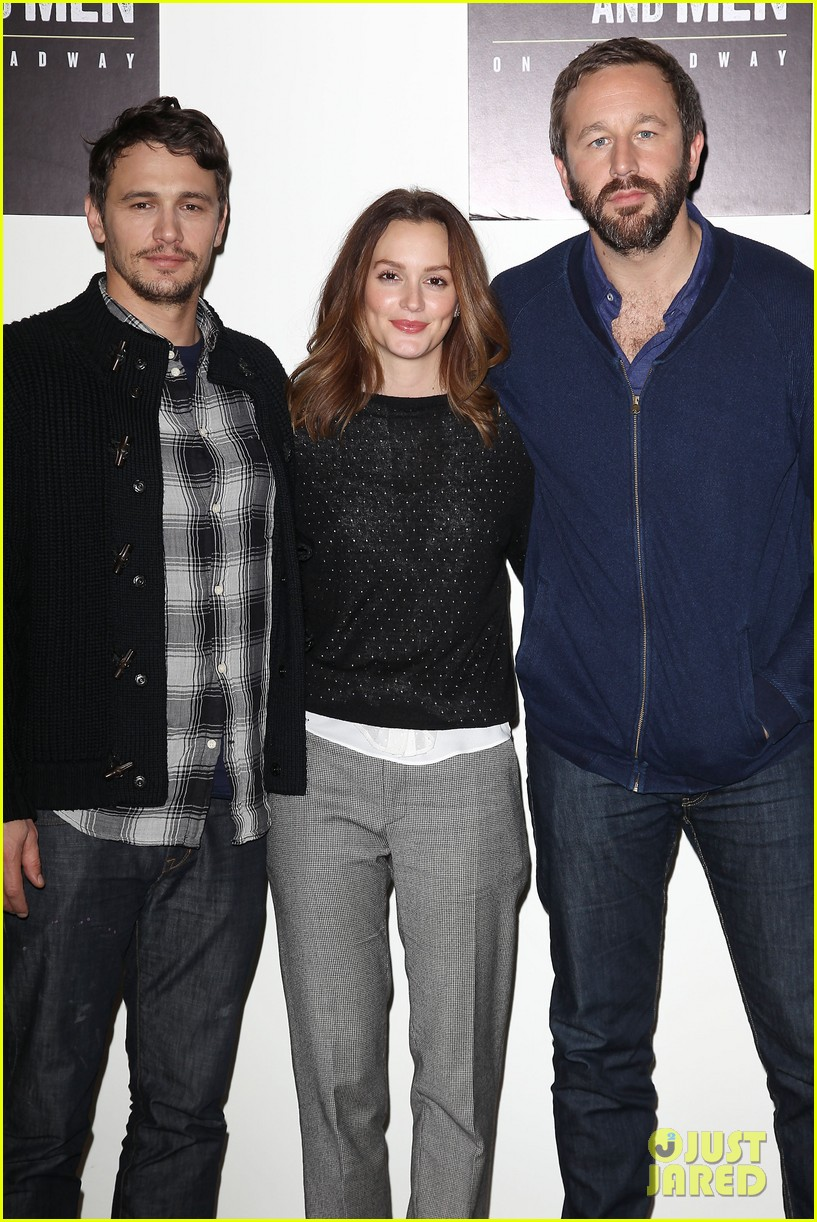 leighton meester james franco of mice men broadway preview 223067180