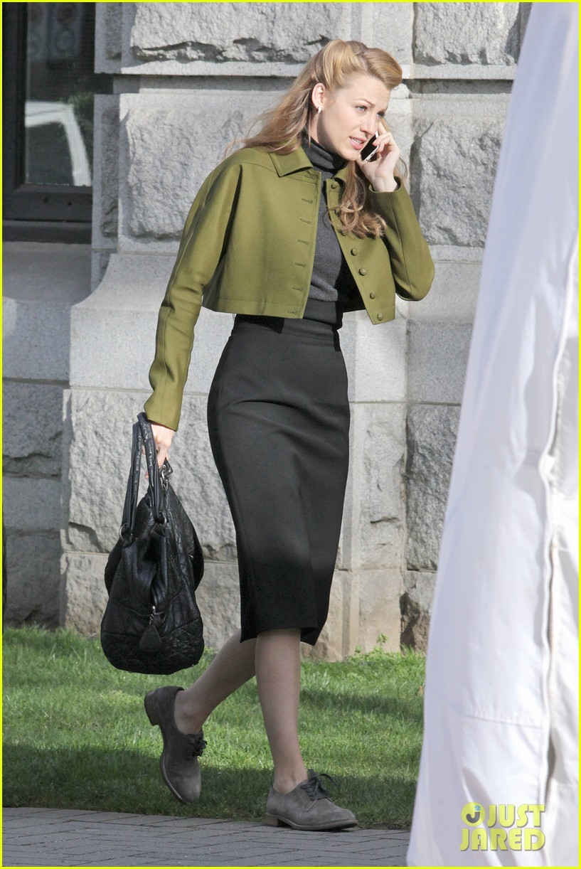 blake lively joins michiel huisman on set for age of adaline 043075264