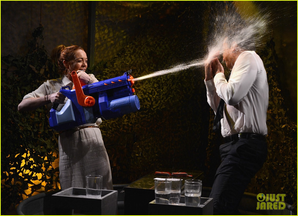 lindsay lohan gets water thrown in her face by jimmy fallon 08