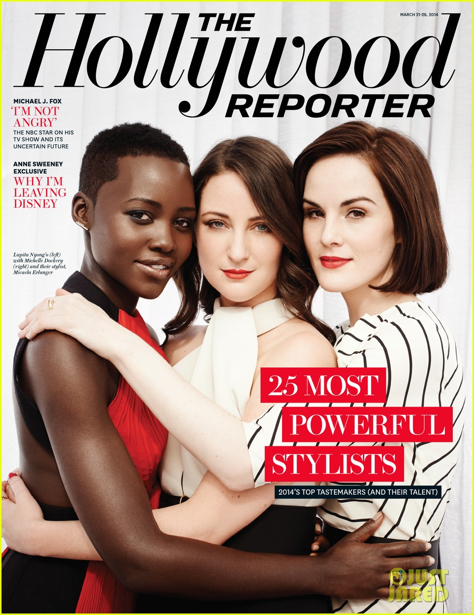 lupita nyongo hugs her stylist for thrs 25 powerful stylists issue kristen stewart more 063070361