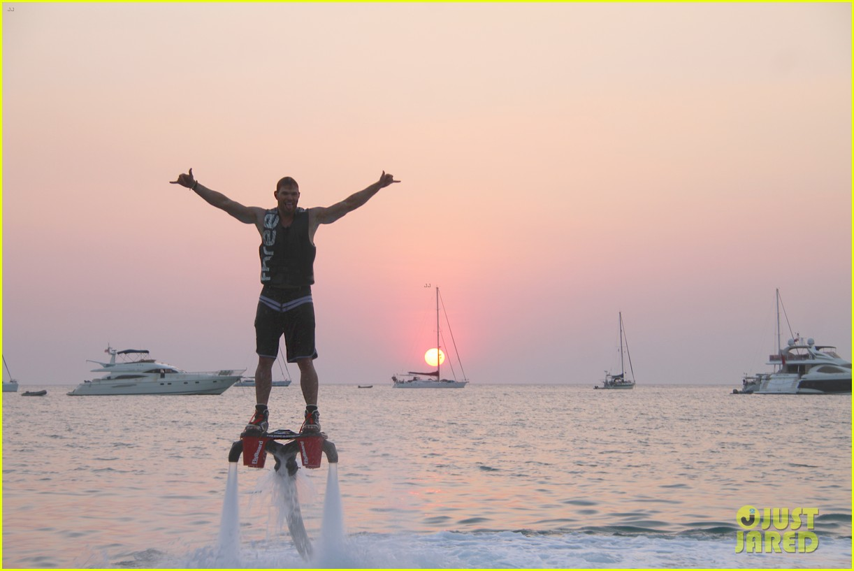 kellan lutz glides over water on flyboard 05