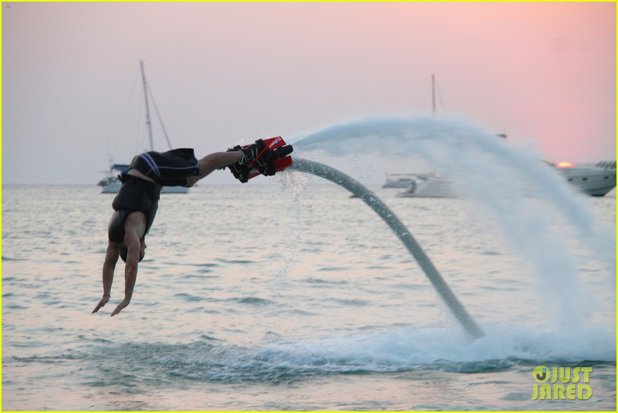 kellan lutz glides over water on flyboard 093069169