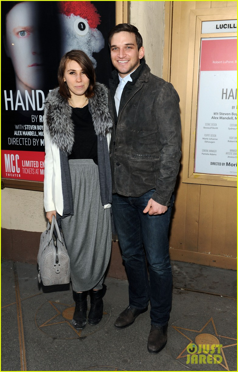 zosia mamet attends hand to god opening night with boyfriend evan jonigkeit 033069776
