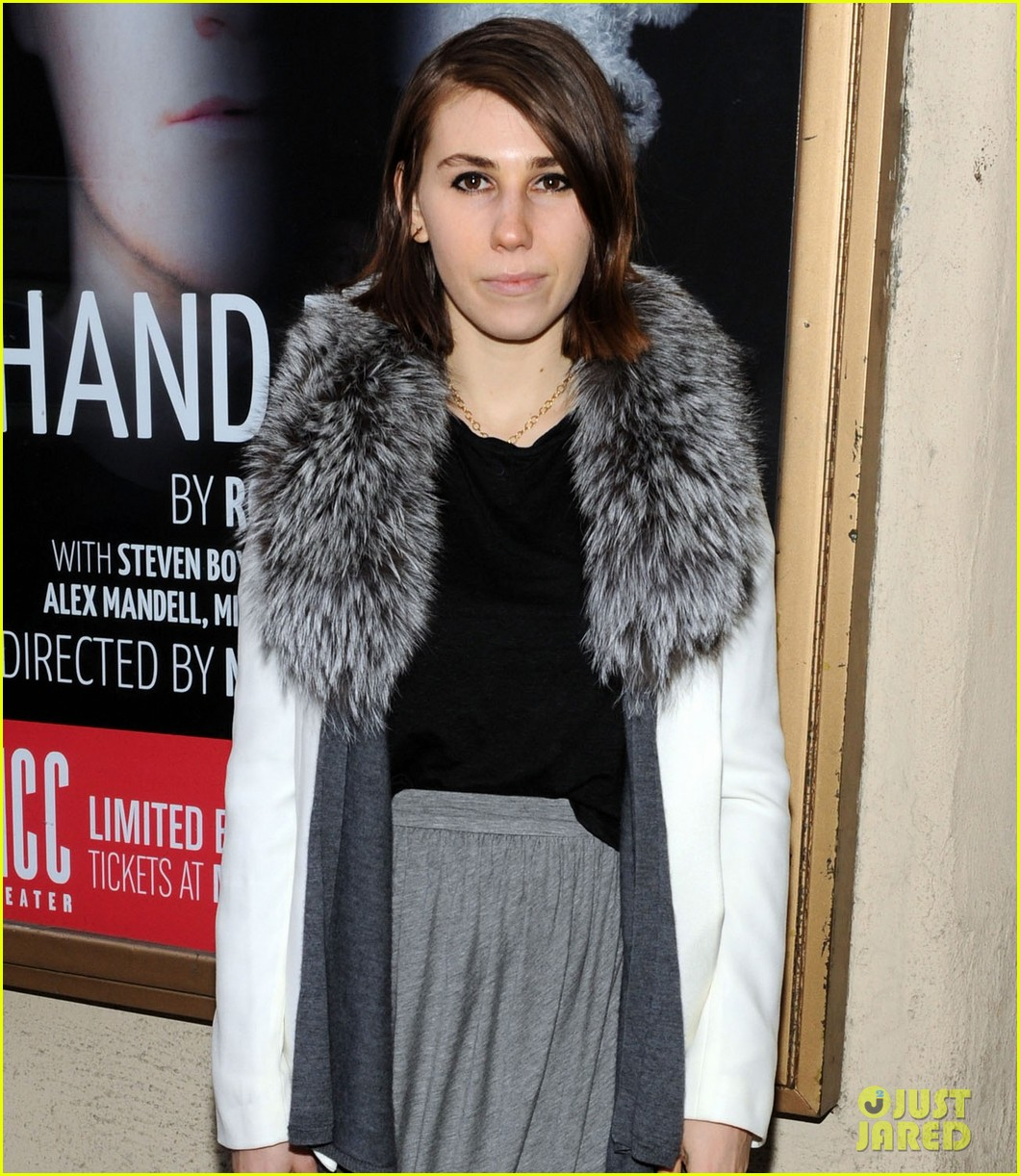 zosia mamet attends hand to god opening night with boyfriend evan jonigkeit 043069777