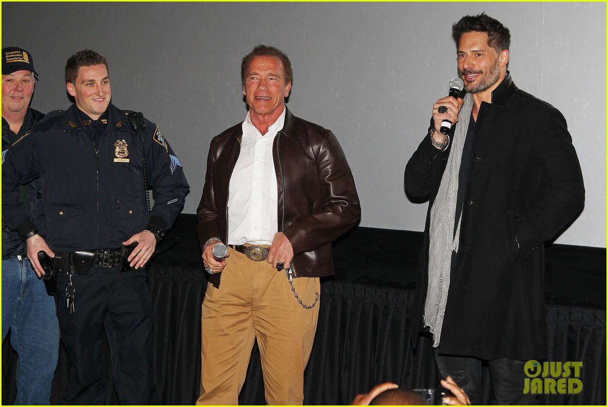 joe manganiello arnold schwarzenegger surprise nyc law enforcement 033077423