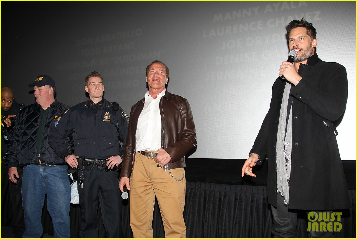 joe manganiello arnold schwarzenegger surprise nyc law enforcement 09
