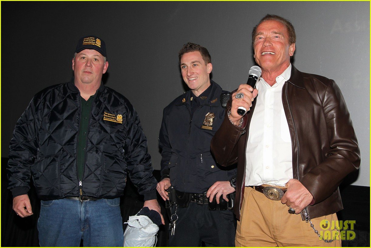 joe manganiello arnold schwarzenegger surprise nyc law enforcement 103077430