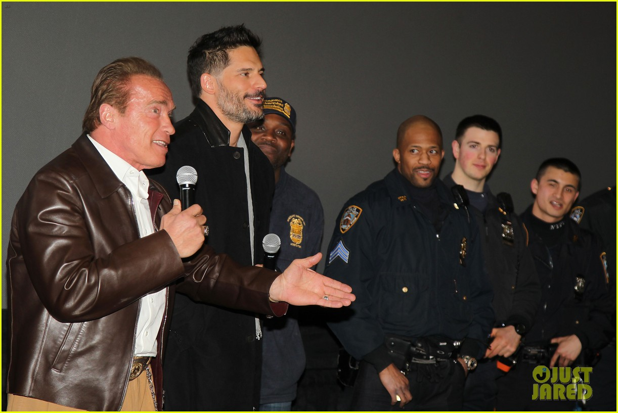 joe manganiello arnold schwarzenegger surprise nyc law enforcement 113077431