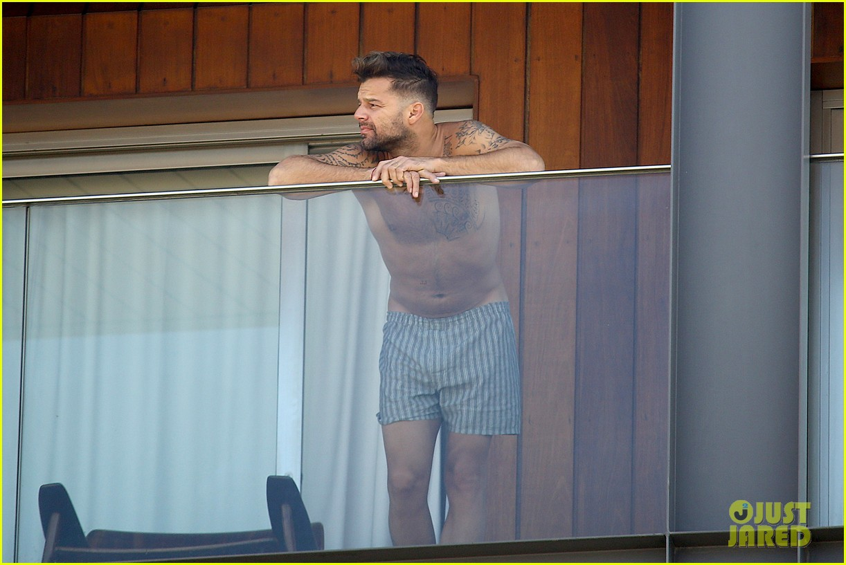 ricky martin goes shirtless in only his boxers in rio 103071820