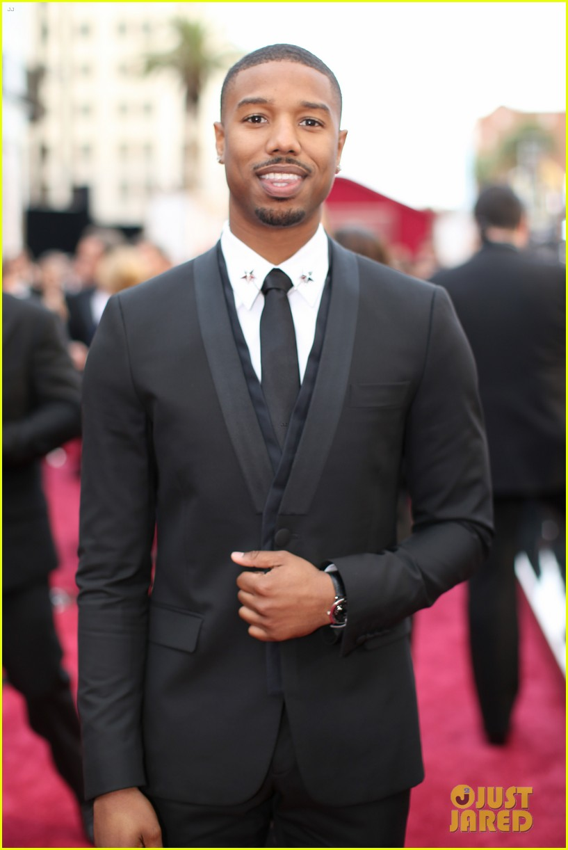 michael b jordan oscars 2014 red carpet 05