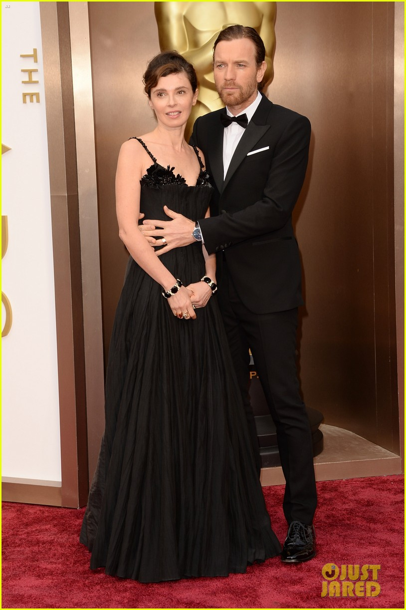 ewan mcgregor attends oscars 2014 with wife eve mavrakis 033064269