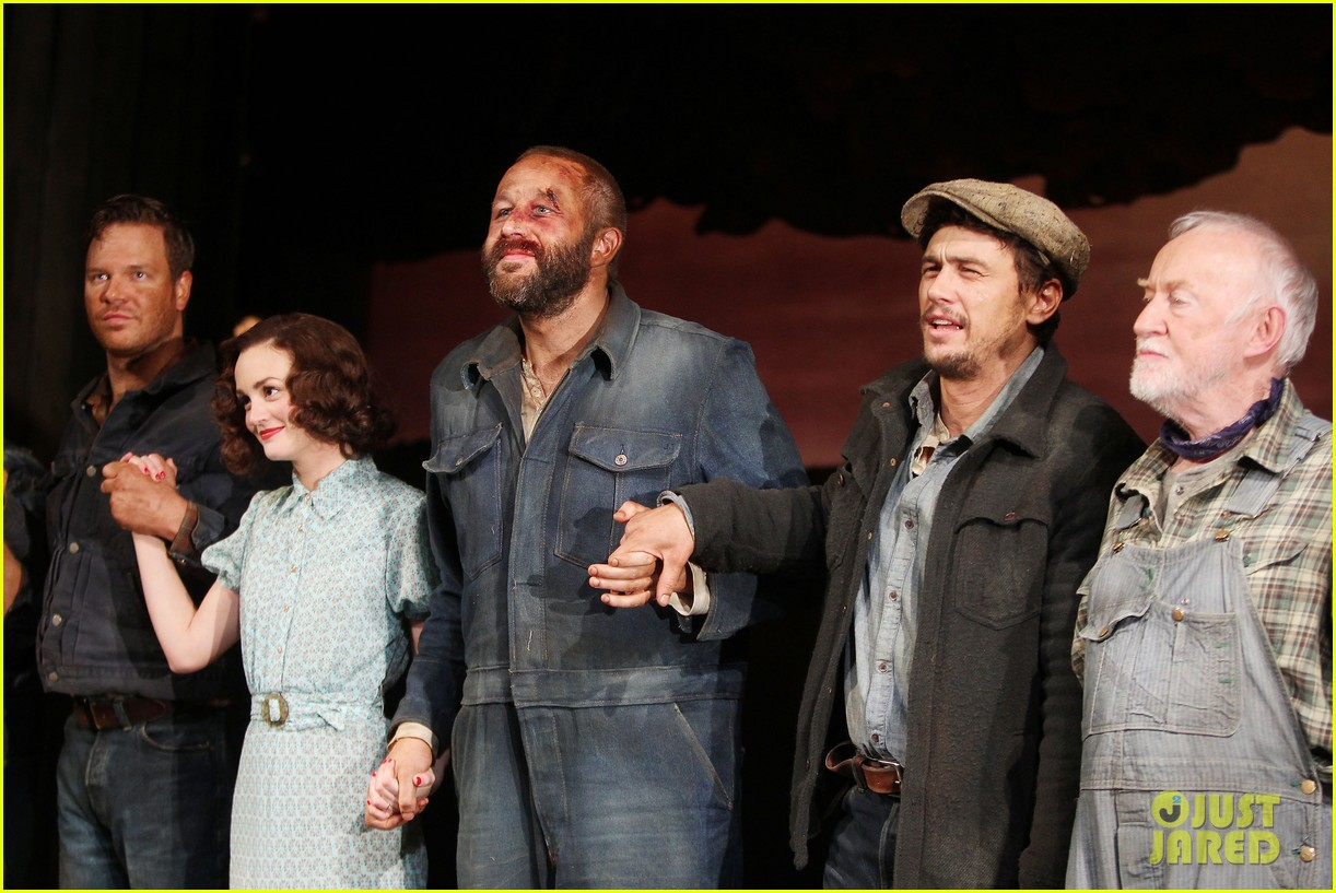 leighton meester james franco of mice men photo call 073075145