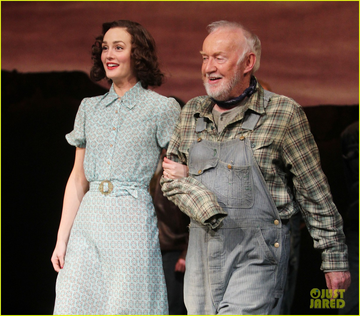 leighton meester james franco of mice men photo call 09