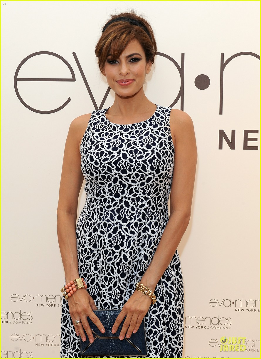 eva mendes new york company collection launch 08