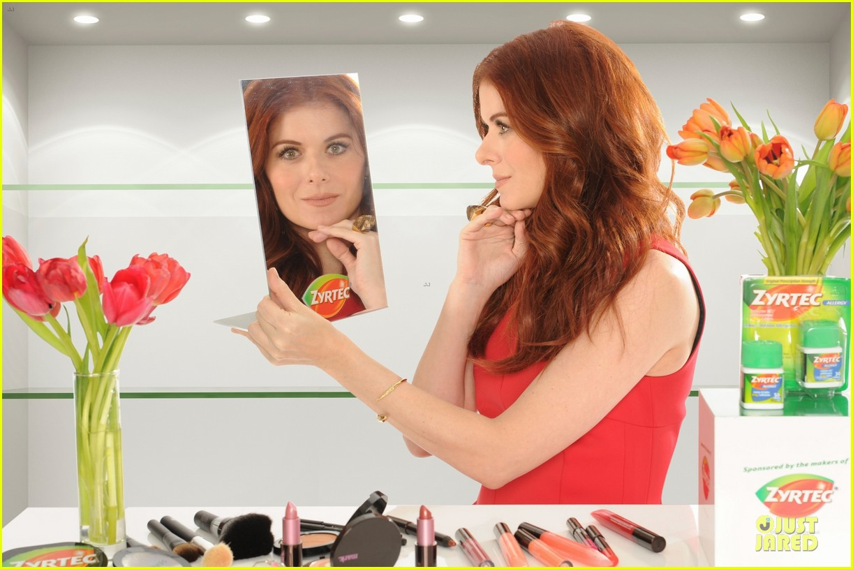debra messing looks beautiful with zyrtec 053070097