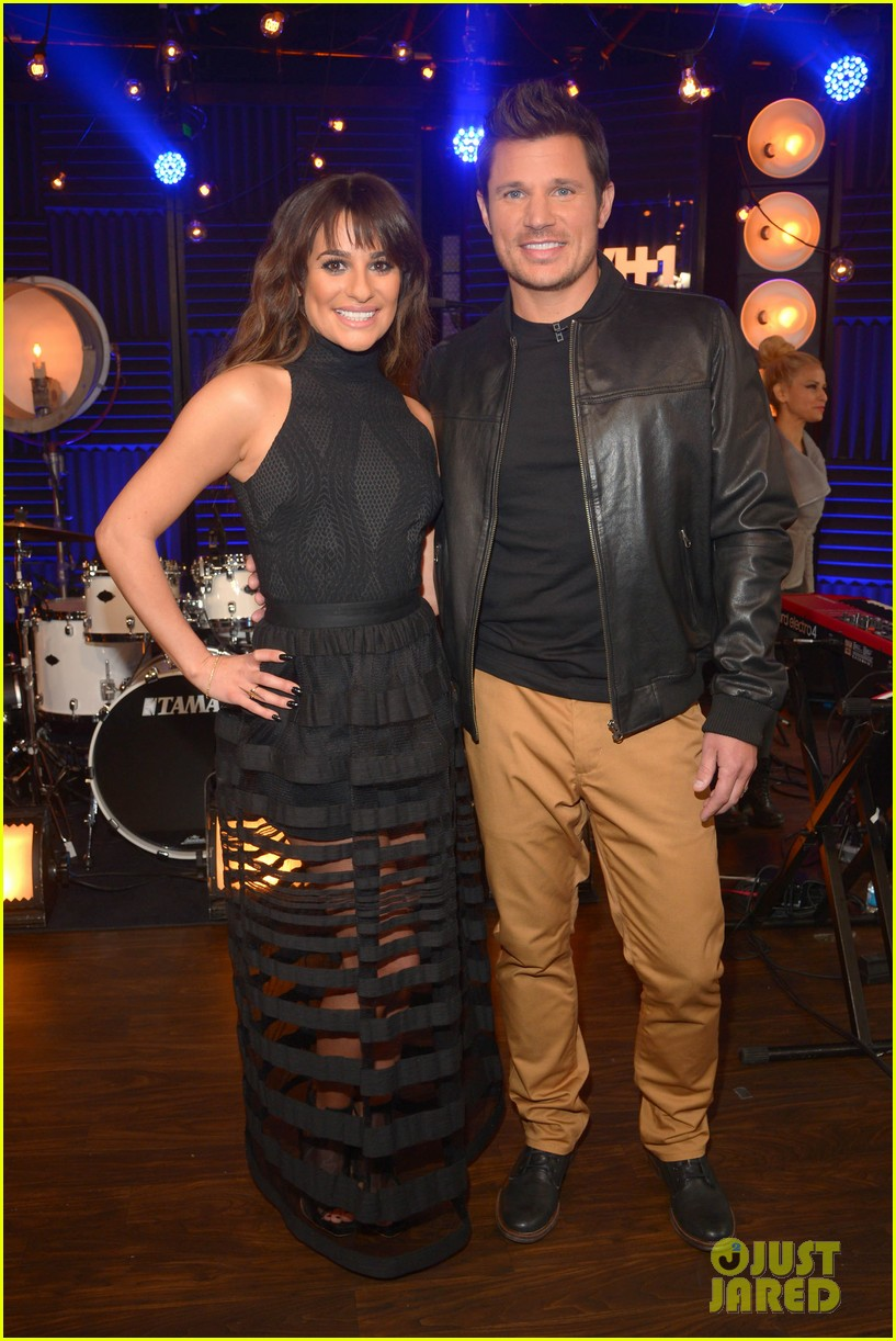 lea michele big morning buzz with nick lachey 053066943