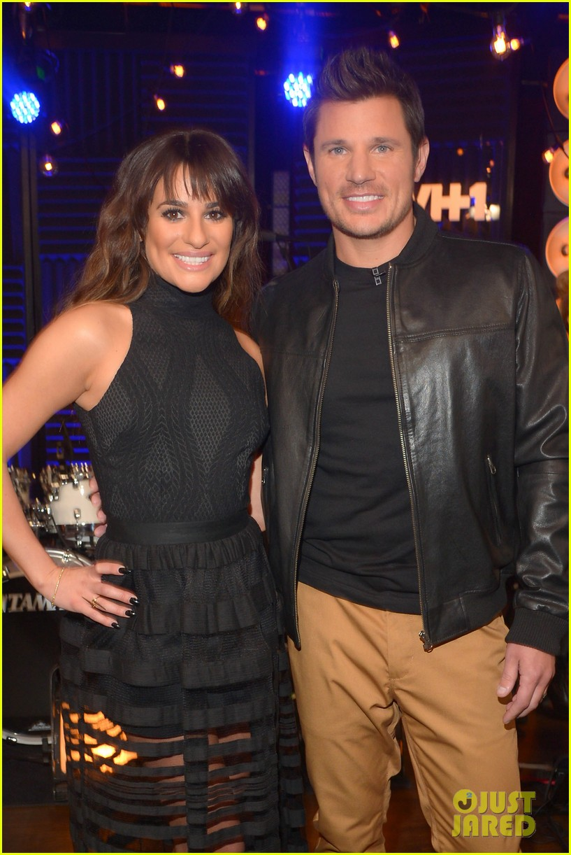 lea michele big morning buzz with nick lachey 073066945