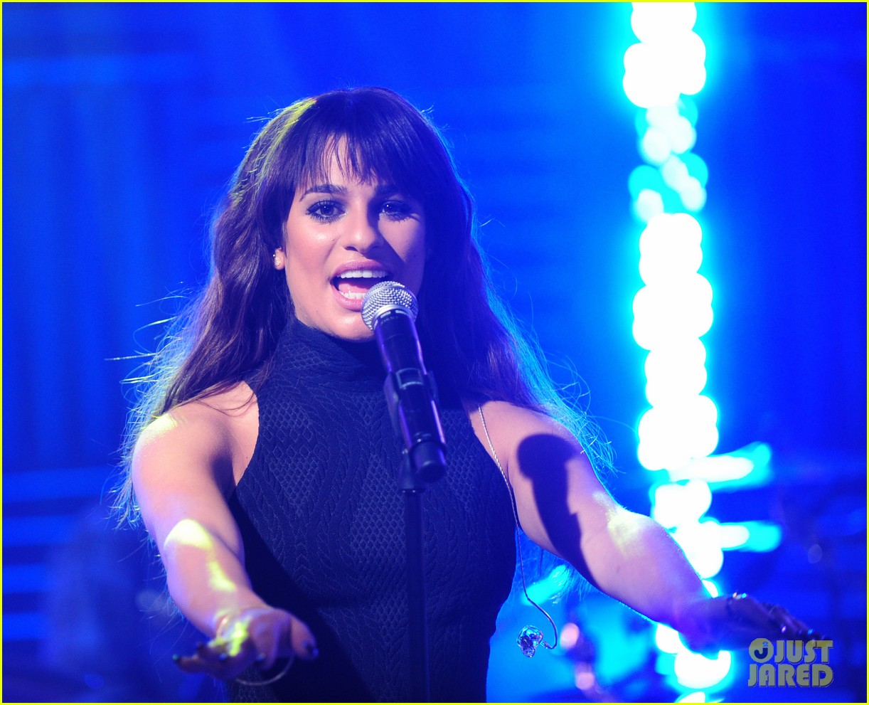 lea michele big morning buzz with nick lachey 113066949