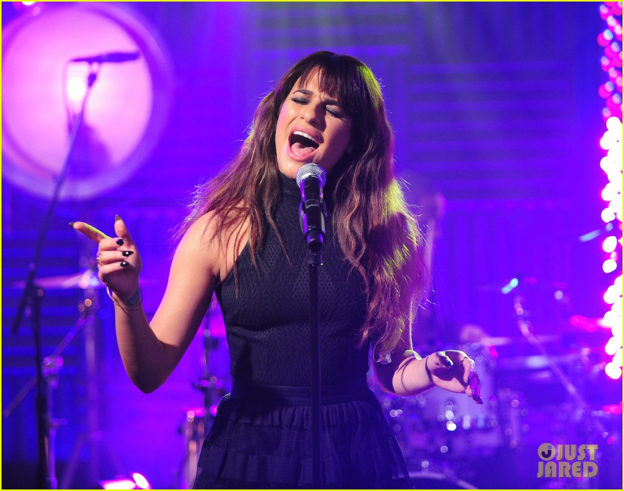 lea michele big morning buzz with nick lachey 133066951