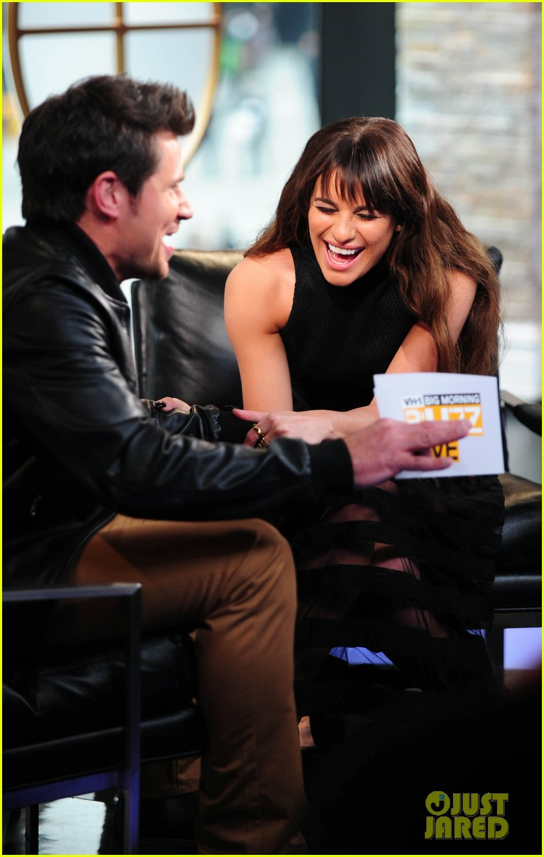 lea michele big morning buzz with nick lachey 143066952