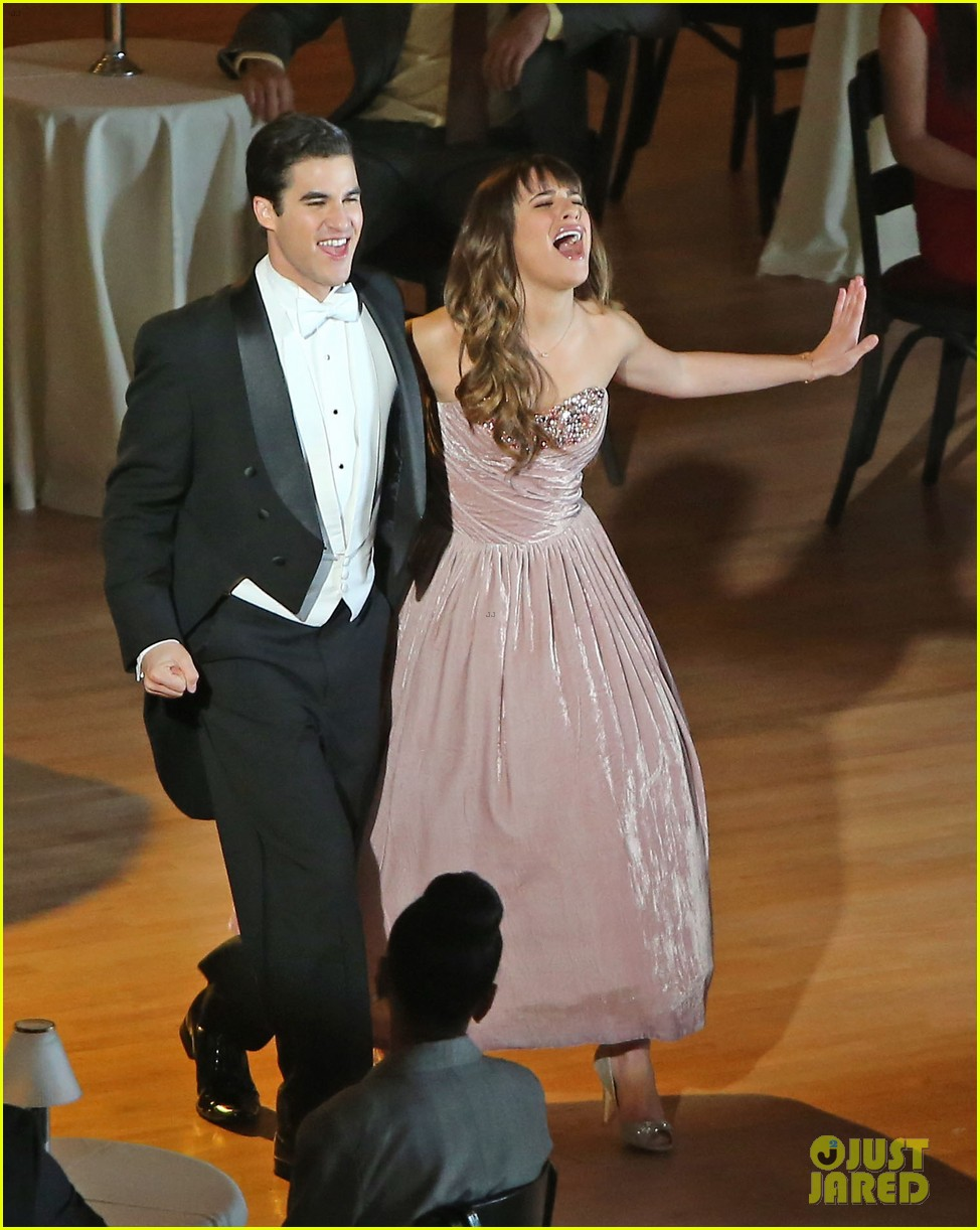 lea michele darren criss classic broadway number glee 013079870