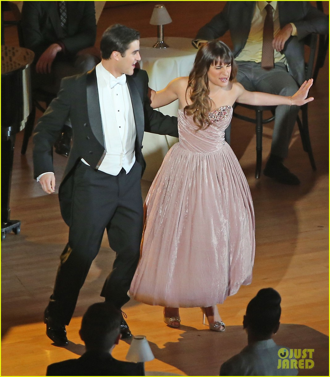 lea michele darren criss classic broadway number glee 103079879