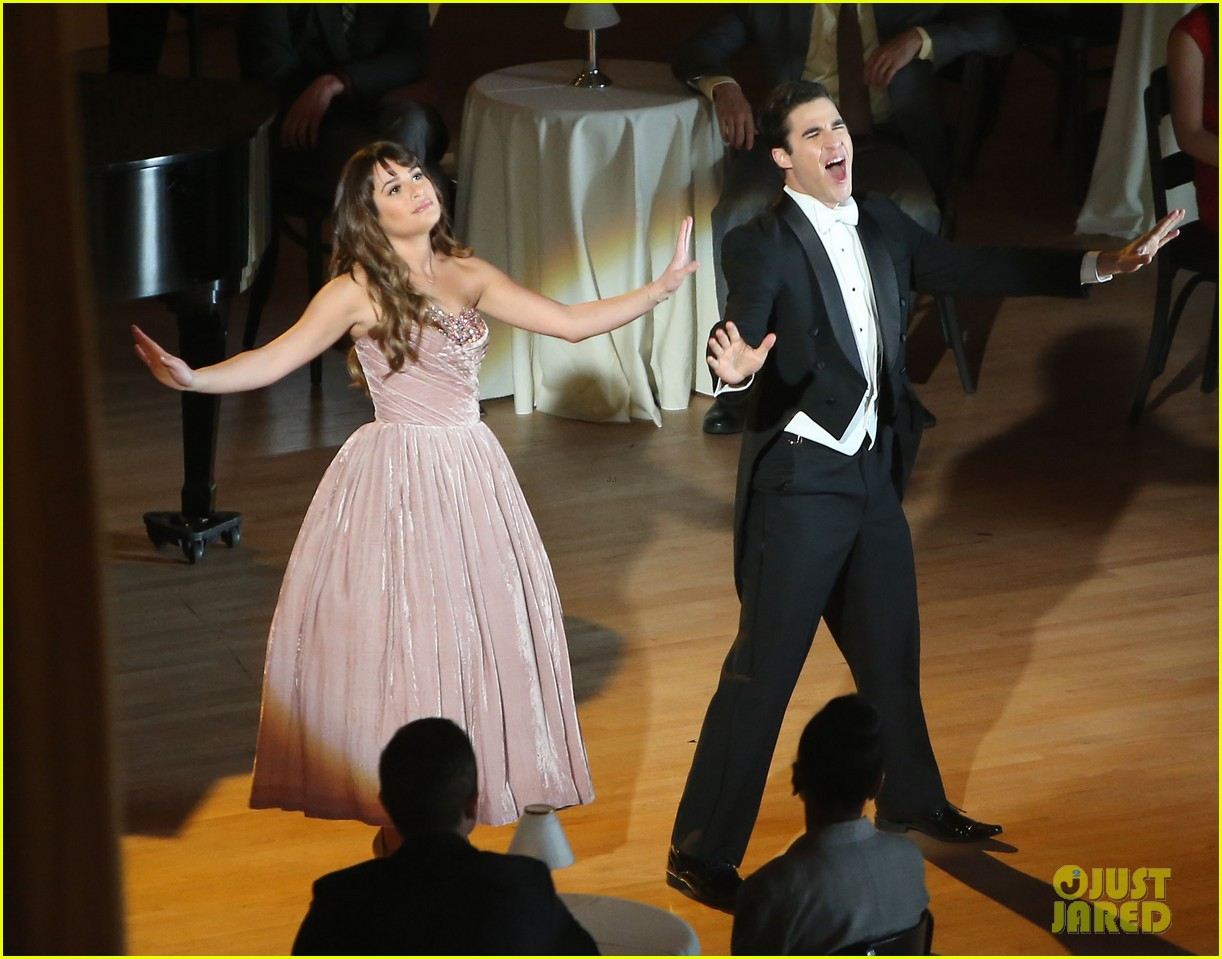 lea michele darren criss classic broadway number glee 163079885