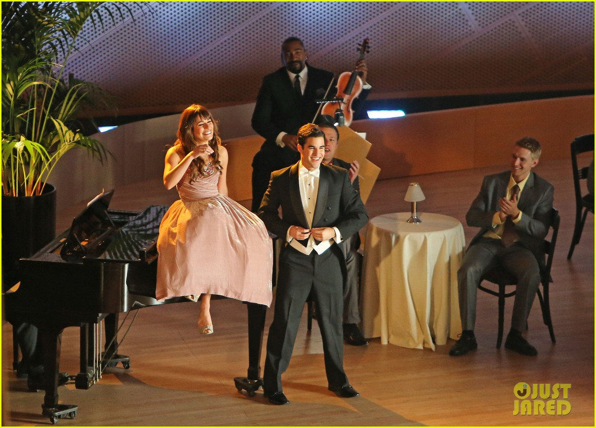 lea michele darren criss classic broadway number glee 203079889