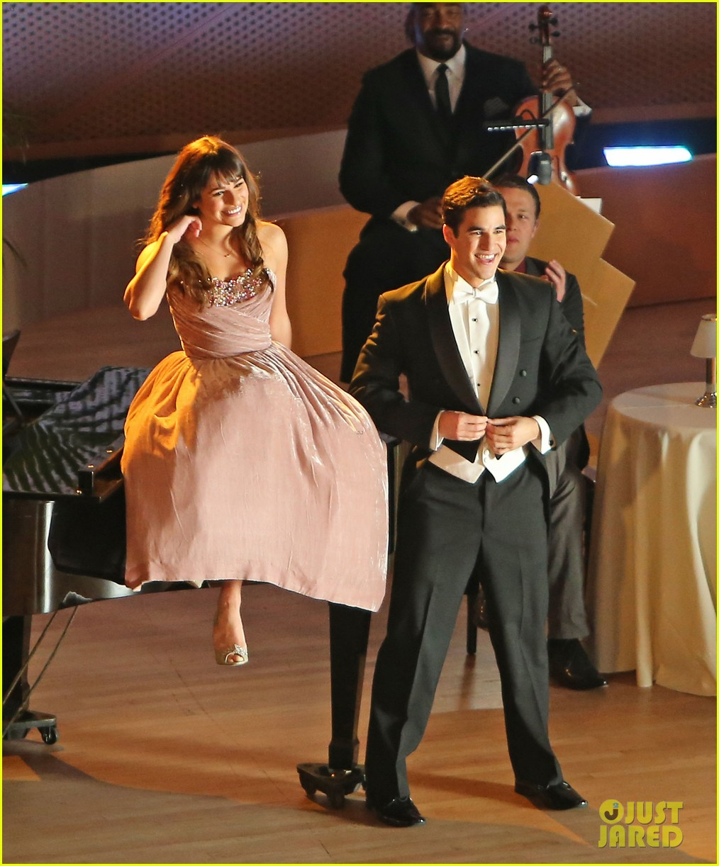 lea michele darren criss classic broadway number glee 213079890