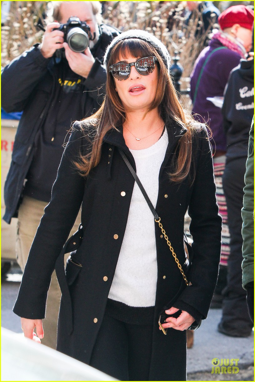lea michele heats up before glee 143072089