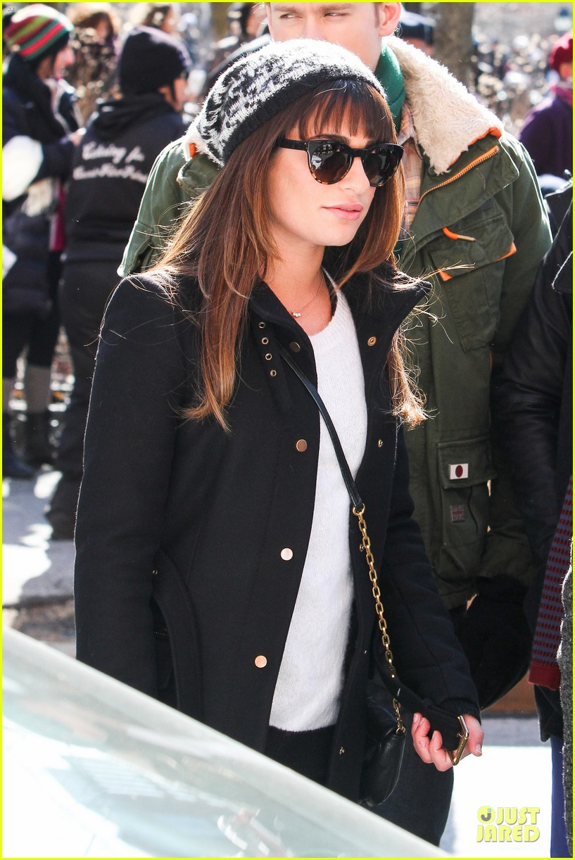 lea michele heats up before glee 24