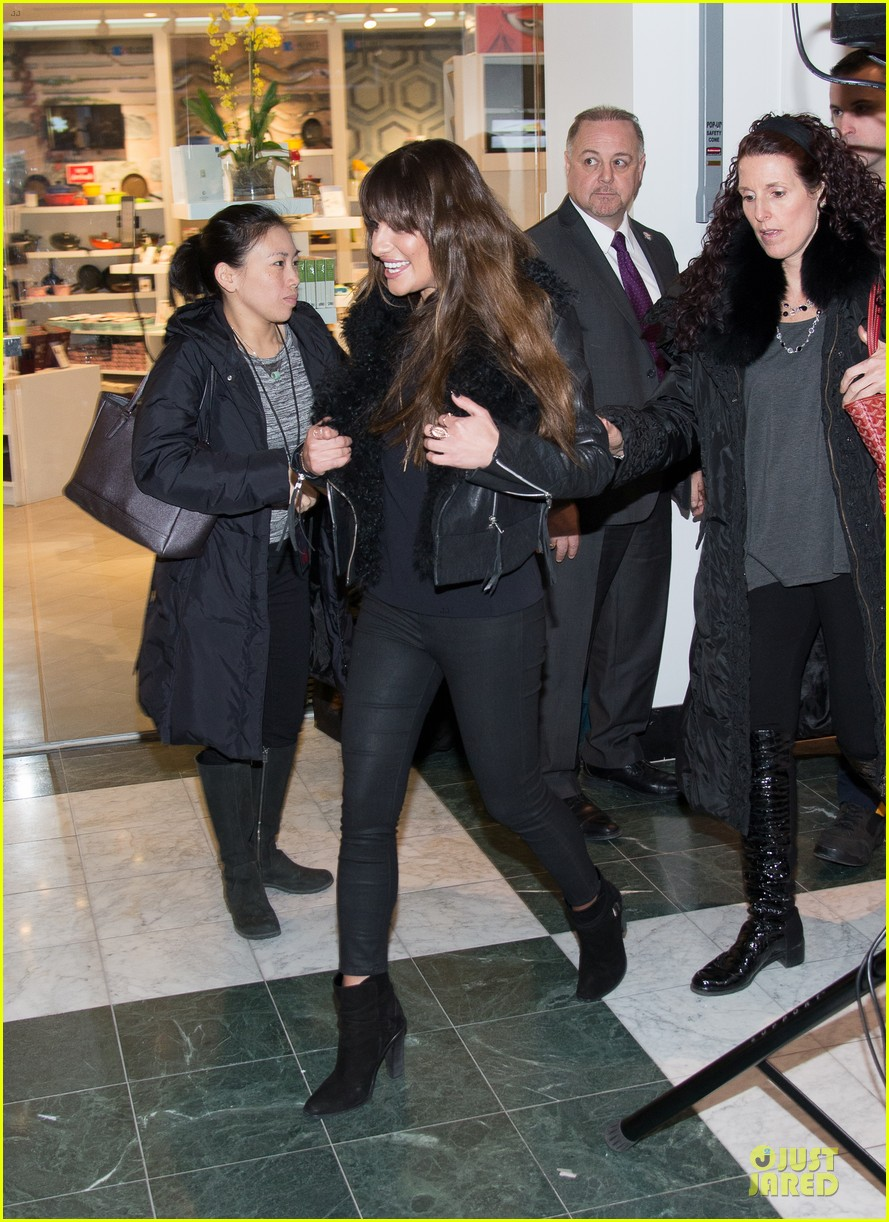 lea michele wears key around her neck at louder album signing 013065511