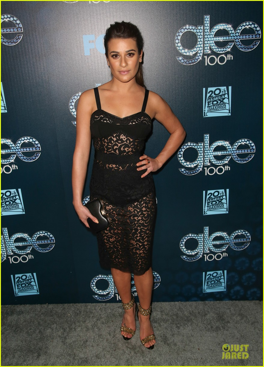 lea michele show off their assets at glee 113074499