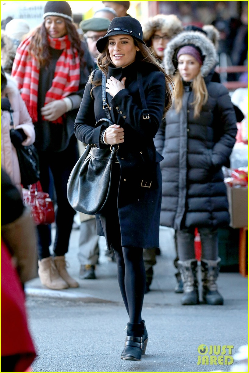 lea michele switches outfits around glee nyc 163071447