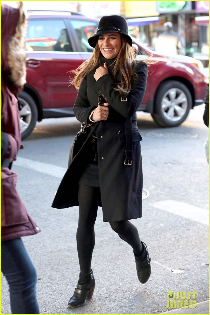 lea michele switches outfits around glee nyc 263071457