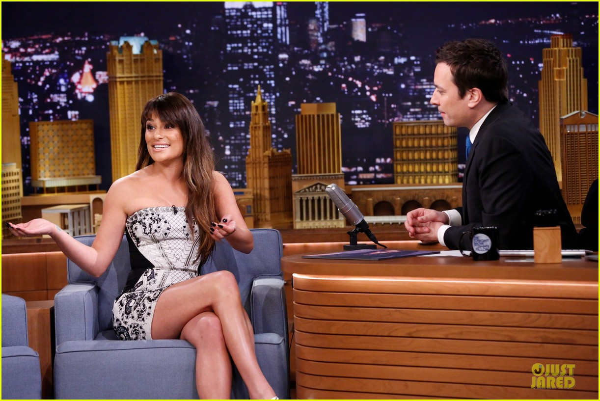 lea michele performs cannonball on tonight show 193066192