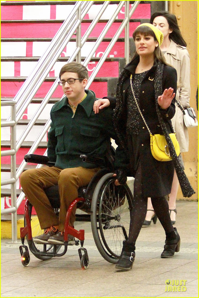 lea michele kevin mchale take glee underground in nyc 013072553
