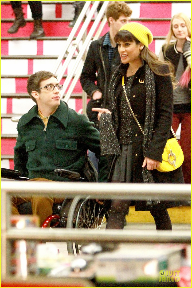 lea michele kevin mchale take glee underground in nyc 063072558