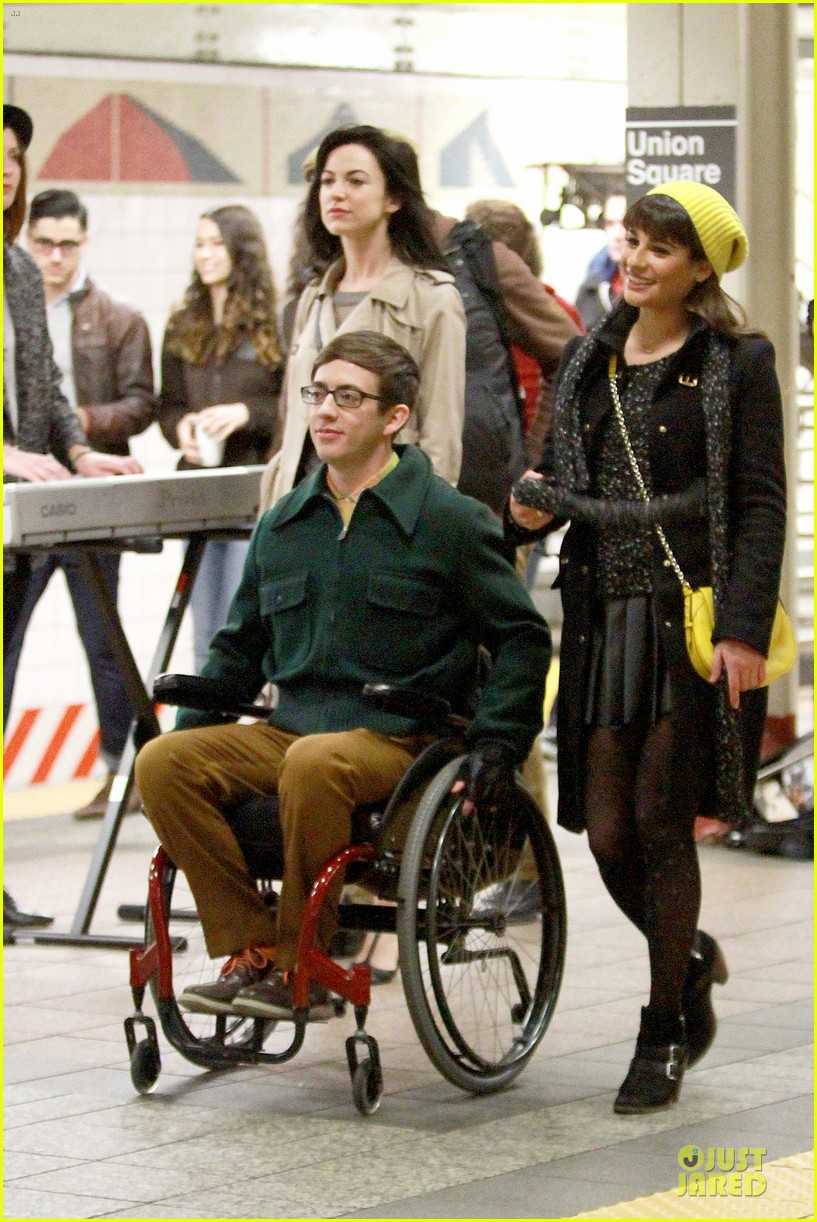 lea michele kevin mchale take glee underground in nyc 143072566