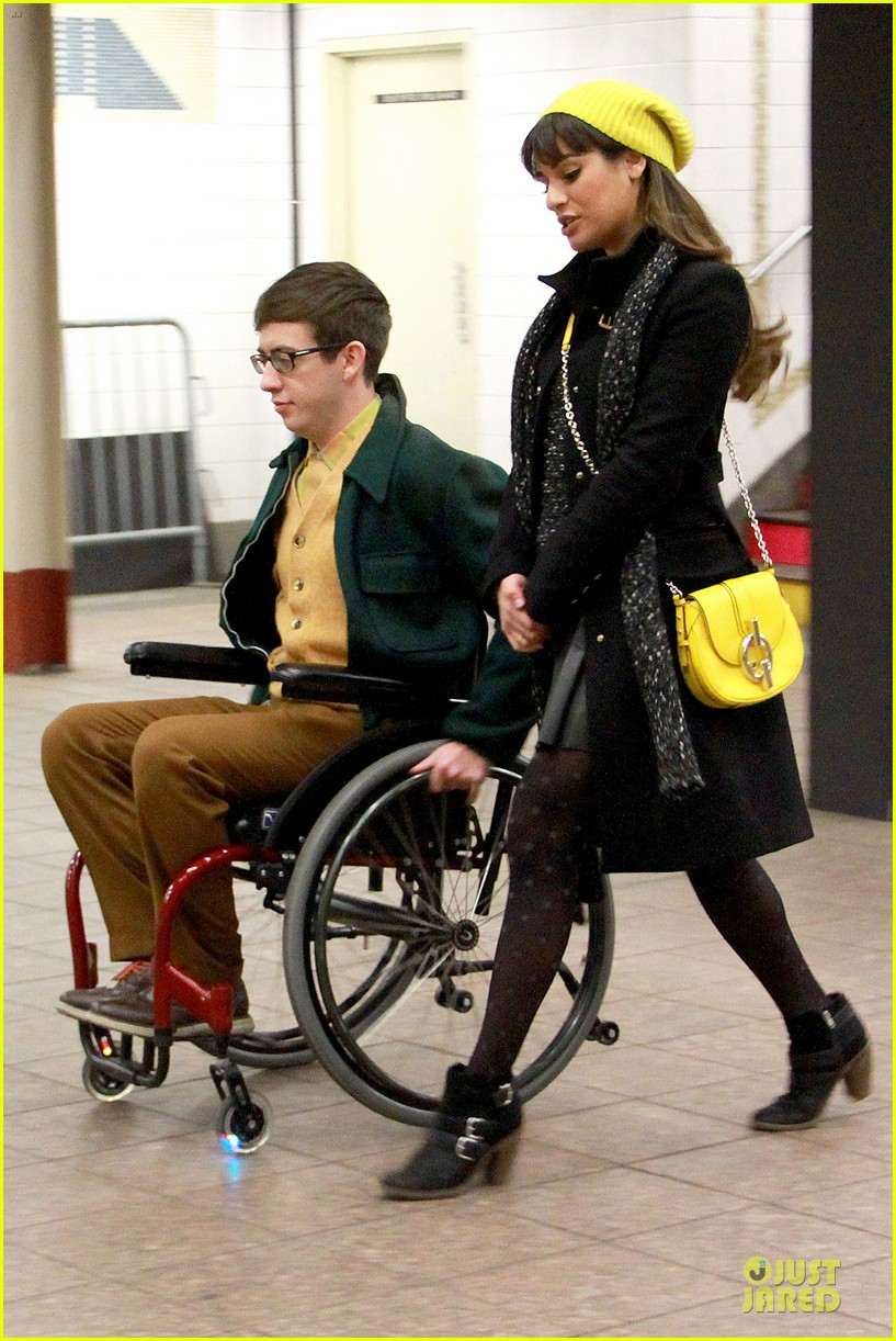 lea michele kevin mchale take glee underground in nyc 153072567