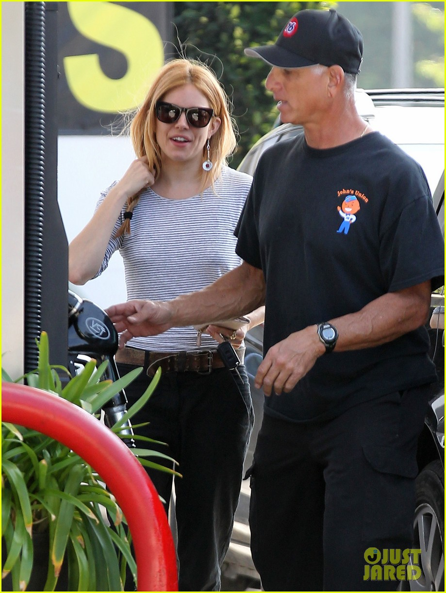 sienna miller sports red hair for busy beverly hills afternoon 023067741